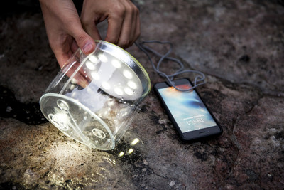 Smart solar light with two-way USB grants peace of mind during emergencies, disaster preparedness, outdoors, on the road and beyond.