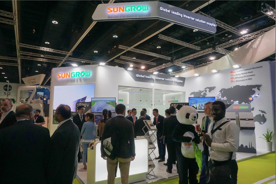 Sungrow booth at WFES 2018