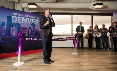 Colorado Governor John Hickenlooper along with Marketo CEO Steve Lucas lead the celebration to open the new Marketo office in Denver. This expansion created 200 jobs in the Mile High City, with plans to grow the Denver team to 500 by the end of this year.