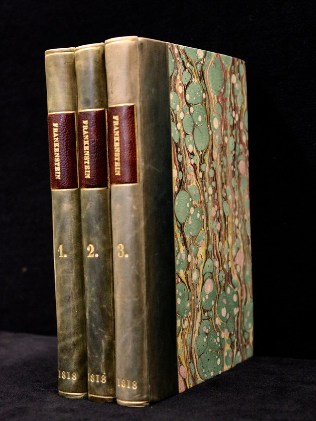"""See a first edition of Mary Shelley's """"Frankenstein."""" Credit: Occidental College Library"""