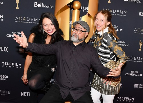 Today, the Academy of Canadian Cinema & Television announced the nominees for the 2018 Canadian Screen Awards in downtown Toronto. The hosts for the announcement were Sarain Fox, host of RISE on VICELAND, Paul Sun-Hyung Lee of CBC's Kim's Convenience and Karine Vanasse of CTV's Cardinal. Photo credit: George Pimentel Photographer- WIREIMAGE/Getty (CNW Group/Academy of Canadian Cinema & Television)