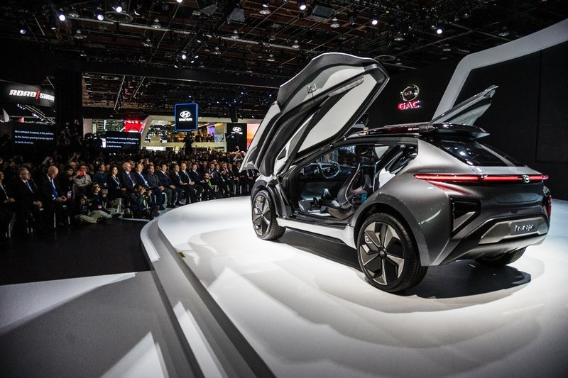The Press Conference of GAC Motor at the 2018 NAIAS
