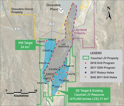 Figure 1: Location of CAU15 and other Cauchari drill holes (CNW Group/Advantage Lithium Corp)