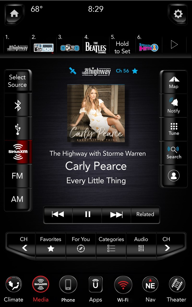 "The ""Related"" function gives you one touch access to content similar to what you are currently listening to. (CNW Group/Sirius XM Canada Holdings Inc.)"