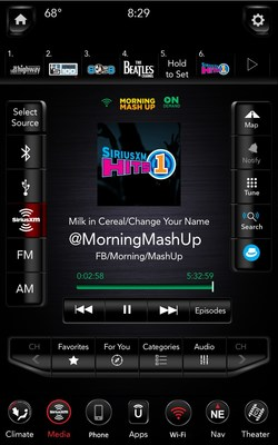 Easily access SiriusXM's On Demand library for shows such as The Morning Mashup on SiriusXM Hits 1. (CNW Group/Sirius XM Canada Holdings Inc.)
