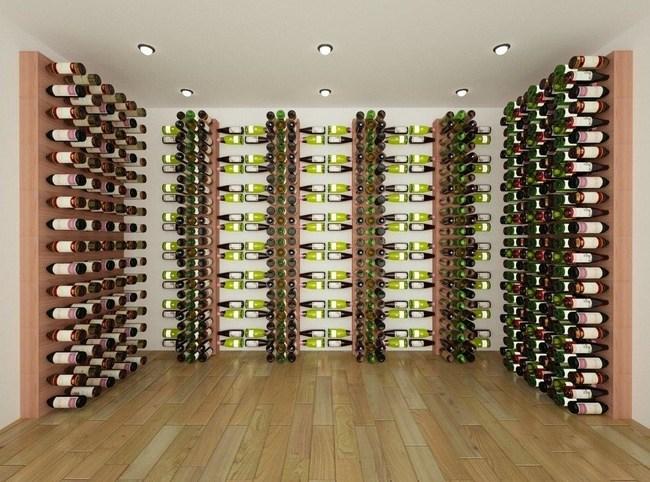 Full Room Render of Wine Cellar Innovations' Wall Wine Racks Series