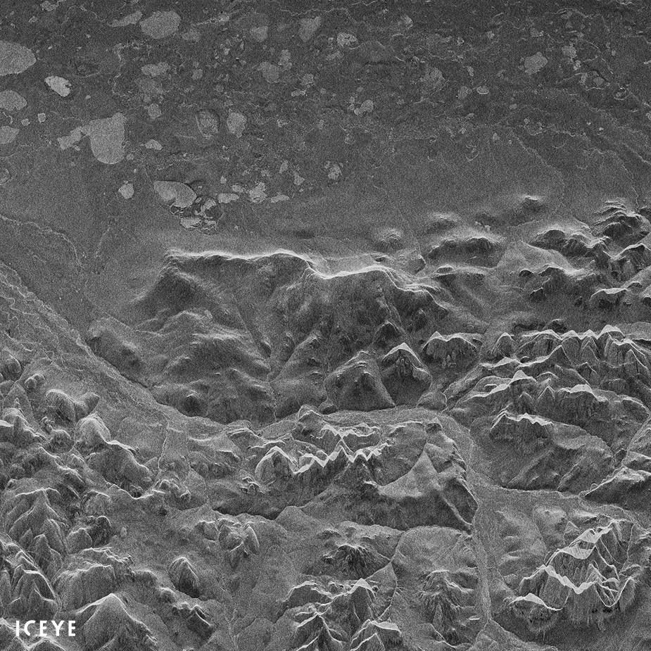 First ICEYE-X1 Radar Image from Space of Noatak National Preserve, Alaska