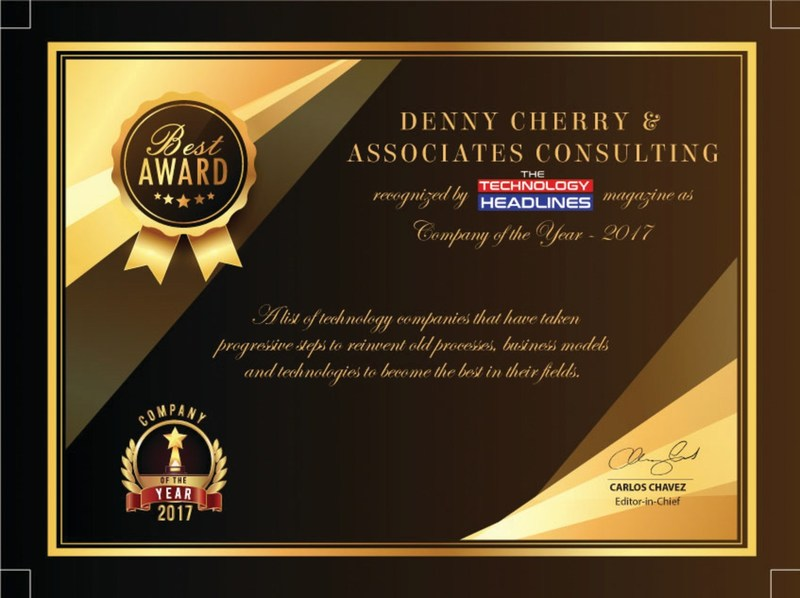, Denny Cherry & Associates Consulting Named Company of the Year, WorldNews | Travel Wire News