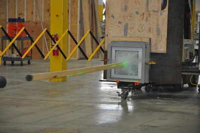 Photo: New Insulgard Security Product Torgard TTH600 Window system undergoing Debris Impact testing. Insulgard Security Products, the industry leader in architectural security products, has introduced the advanced new Torgard TTH600 Window system – the first fully glazed window system certified by UL (Underwriters Laboratories) to meet critical standards for use in tornado and hurricane storm shelters mandated by the 2015 International Building Code. This photo shows the moment of impact during Debris Impact testing of the Torgard TTH600 - a 15-pound wooden 2x4 fired from a cannon at 100mph is impacting the window. This is one of multiple debris impacts performed during windstorm certification to FEMA guidelines and ICC500-14 at UL's Chicagoland-based Building and Life Safety Technologies Lab. View a video of this test at: https://www.insulgard.com/#testing. For more information on this product, please contact Insulgard Security Products at 1-800-624-6315 or visit www.insulgard.com.