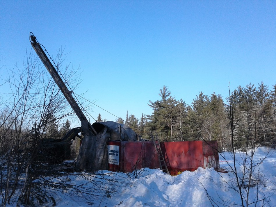 Image 1. Laframboise Drilling at the Bellellen mine. (CNW Group/First Cobalt Corp.)