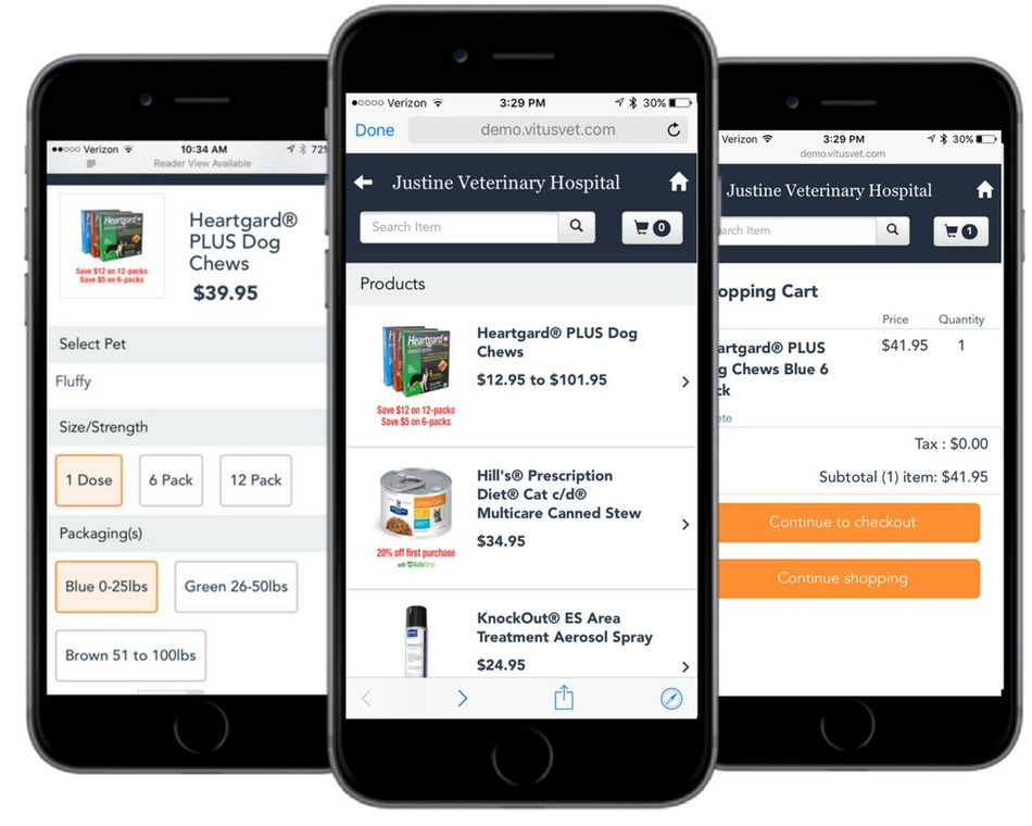 The VitusVet Online Store gives veterinary practices who already sell their own medications and preventatives the ability to sell prescriptions online through the VitusVet mobile app to their clients.