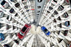 Iconic Car Towers: One of every four new Volkswagens sold in Germany was delivered at the Autostadt in Wolfsburg in 2017 / photo credit: Lars Landmann CarTowersattheAutostadtinWolfsburg_LarsLandmann.jpg (PRNewsfoto/Autostadt GmbH)