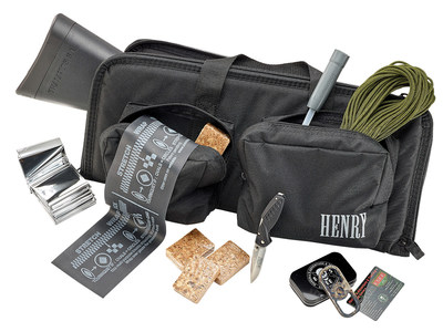 The Henry U.S. Survival Pack includes the Henry U.S. Survival AR-7 rifle and many emergency survival items, all made in America.
