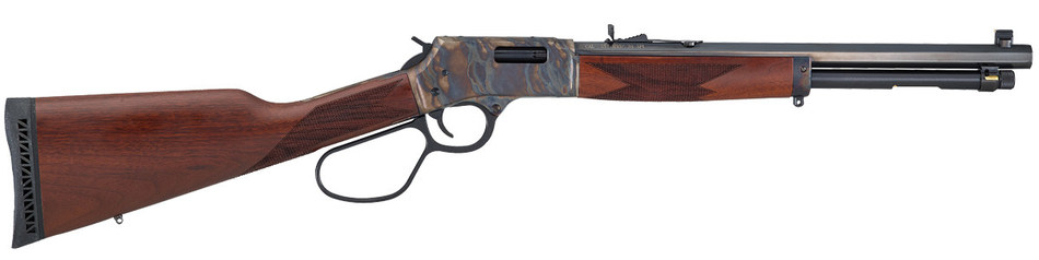 The Big Boy Color Case Hardened Carbine has a 16.5-inch octagonal barrel with a large lever loop. MSRP is $1,045.