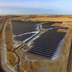 Elemental Energy's Brooks Solar project, January 2018. (CNW Group/Elemental Energy Inc.)