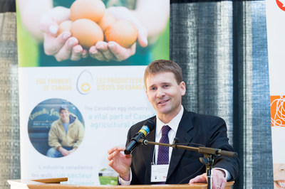 Dr. Nathan Pelletier was awarded the first NSERC/Egg Farmers of Canada Industrial Research Chair in Sustainability. (CNW Group/Egg Farmers of Canada)