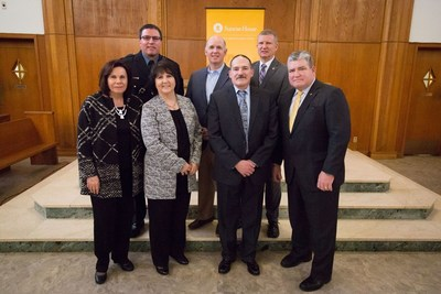 Bottom L to R: Freeholder Sylvia Petillo; Becky Carlson, executive director at the Center for Prevention and Counseling; Fred Trapassi, CEO of Sunrise House Treatment Center; Mike Richards, chief of police at the Newton Police Department. Top L to R: Sen. Steve Oroho; Micheal Cartwright, CEO of American Addiction Centers; and Prosecutor Francis Koch, chief law enforcement officer of Sussex County.