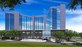 Two new Hilton hotels will open under one roof at 1 Glenwood Avenue in Teaneck, New Jersey in spring 2018. The Hampton Inn & Suites Teaneck/Glenpointe and Homewood Suites by Hilton Teaneck/Glenpointe will provide 1,230 square feet of meeting space that can accommodate up to 100 people, and 350 sleeping rooms for groups or individual travelers. (PRNewsfoto/White Lodging)