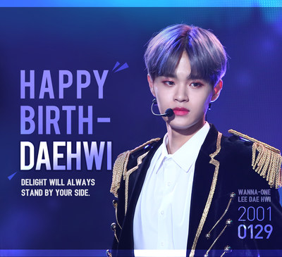 DELIGHT is looking forward to your promising future, our K-pop superstar Dae-hwi.