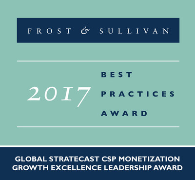 Stratecast | Frost & Sullivan has recognized Netcracker Technology Corporation with the 2017 Global Stratecast Growth Excellence Leadership Award in CSP Monetization. (PRNewsFoto/Frost & Sullivan)