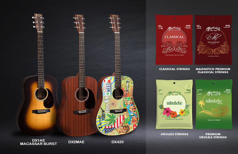 martin guitar to debut three new x series dreadnought guitars along with new premium classical and. Black Bedroom Furniture Sets. Home Design Ideas