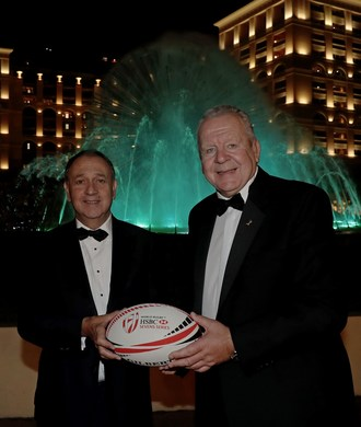 Paul Hermelin, Chairman and CEO of Capgemini Group, and Bill Beaumont, Chairman of World Rugby. Photo credit: © World Rugby (PRNewsfoto/Capgemini)