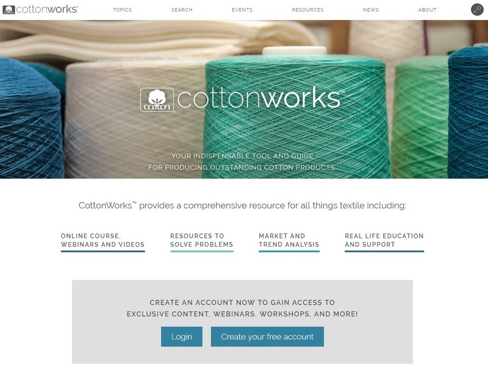 CottonWorks(tm), formerly known as COTTON UNIVERSITY(tm), is a textile professional's resource for education, training and technical assistance for all-things cotton.