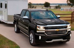 front side view of the Chevy Silverado, which is one of the available Chevy models at Coast to Coast Motors.