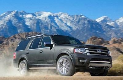 front side view of the Ford Expedition, which is one of the available Ford models at Coast to Coast Motors.