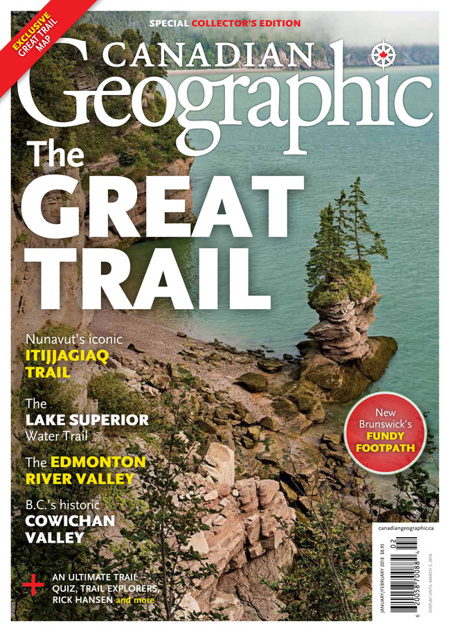 Cover of the January /February issue of Canadian Geographic magazine (CNW Group/Royal Canadian Geographical Society)