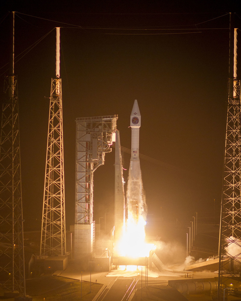 (Cape Canaveral Air Force Station, Fla., Jan. 19, 2018) A United Launch Alliance (ULA) Atlas V rocket carrying the SBIRS GEO Flight 4 mission for the U.S. Air Force lifts off from Space Launch Complex-41 at 7:48 p.m. ET. Photo by United Launch Alliance.