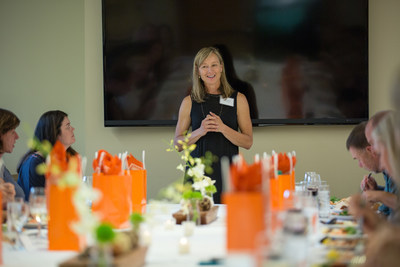 Deanne Buck, executive director of Camber Outdoors, kicks off the Camber CEO Pledge Roundtable in September, 2017.