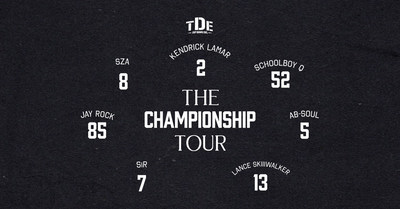 Hip-Hop Powerhouse Top Dawg Entertainment Announces First Ever Full Label Tour With Kendrick Lamar, SZA, ScHoolboy Q, Jay Rock And More