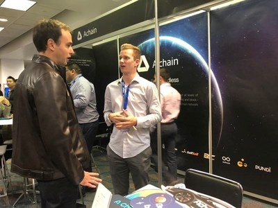 Achain�s booth at BTCMiami