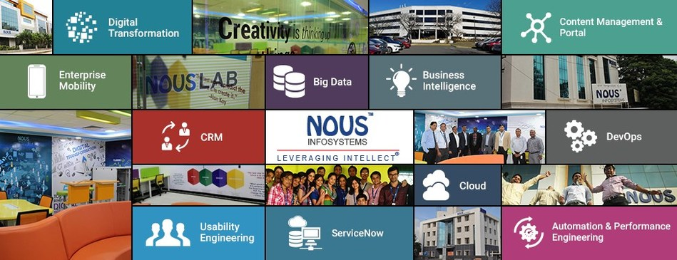 Nous Infosystems, a leading global IT organization offering quality software solutions in Digital Transformation, Big Data, Robotics Process Automation, Analytics, Cloud Computing, Independent Testing and RIM has unveiled an Innovation Lab at its Bengaluru Development Center (PRNewsfoto/Nous Infosystems)