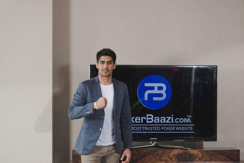 PokerBaazi signs Boxer Vijender Singh as its New Brand Ambassador (PRNewsfoto/PokerBaazi.com)