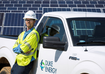 North Carolina is second in the nation for installed solar power capacity. Duke Energy's new rebate program will continue to spur renewable energy development in the state -- lowering the cost of installing solar energy for customers. (PRNewsfoto/Duke Energy)