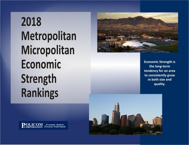 POLICOM Corporation releases 2018 Metropolitan Micropolitan Economic Strength Rakings