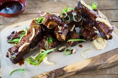 The new E'Terie and Brickstones dining concepts offer mouth-watering light bites and entrees ranging from Sticky Finger Ribs (pictured) to a Mushroom and Kale Flatbread