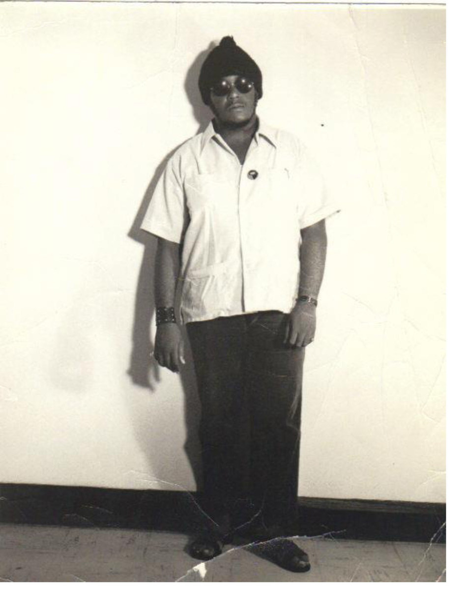 Julian Jingles, rude boy writer, working at the at Gleaner Company in Kingston, Jamaica circa 1970, two years after writing his novel