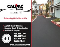 Over the past 40-plus years, Calvac Paving has become one of the most experienced and reliable Asphalt and Concrete contractors in Central California. Our focus on individual project attention and meeting our STAKEHOLDER'S expectations has helped us to add scores of Property Managers/Owners, HOAs, Corporate buildings and campuses, Retail as well as Multifamily properties to our list of appreciative clients/stakeholders.