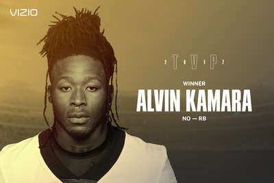 Star running back Alvin Kamara clinches 2017 VIZIO Top Value Performer honors. Fan vote recognized Kamara�s breakout rookie season in New Orleans.