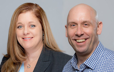 Chief Operating Officer Tina Stuart (left) and Chief Business Development Officer Brian Suszek (right) accept new leadership roles at Tweddle Group.