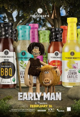"Lionsgate and Tessemae's are kicking off the partnership with the introduction of the EARLY MAN ""Prehistoric Pack"" of sauces, merging Dug's paleolithic lifestyle with the brand's dedication to using only natural ingredients and educating America on clean eating."