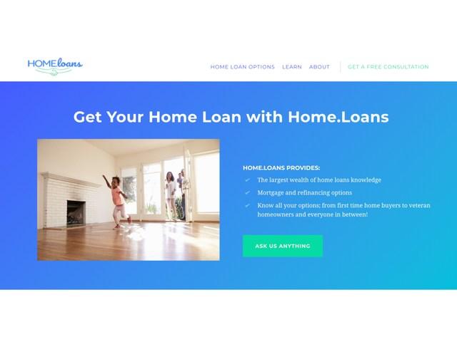 Donuts Sells Home.Loans Domain Name
