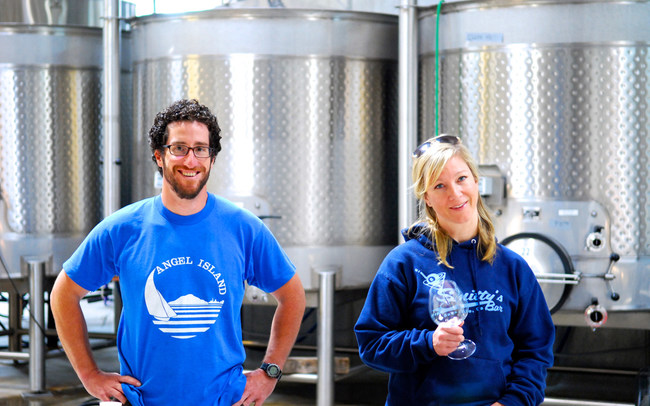Andrew Berge (left), Master Winemaker and Tracy Nielsen, Co-Founder & Assistant Winemaker of La Pitchoune Winery.