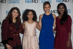 WebMD Health Hero Inventor Award recipient Kavya Kopparapu, WebMD Health Hero Advocate Award recipient Chloe Fernandez, WebMD Health Hero  host Jenna Wolfe and WebMD Health Hero Medscape Mentor of the Year Award recipient Donna Magid, MD, MEd, attend the WebMD Health Hero Awards on January 22, 2018 in New York City