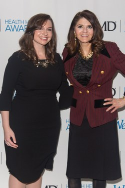 WebMD Health Hero Award presenter Erin Gomez and WebMD Health Hero Medscape Mentor of the Year Award recipient Donna Magid, MD, MEd, attend the WebMD Health Hero Awards on January 22, 2018 in New York City