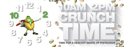 Recent research confirms that pistachios are the perfect snack during 'crunch time'