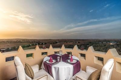 The Al Wadi Tower offers the perfect scenery for a very unique romantic dinner overlooking the Ras Al Khaimah landscape. (PRNewsfoto/The Ritz-Carlton Ras Al Khaimah)
